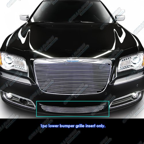 (APS Fits 2011-2014 Chrysler 300/300C Lower Bumper Billet Grille Insert)