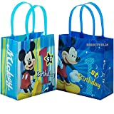 Disney Mickey Mouse 1st Birthday Authentic Licensed 12 Reusable Small Goodie Bags 6'