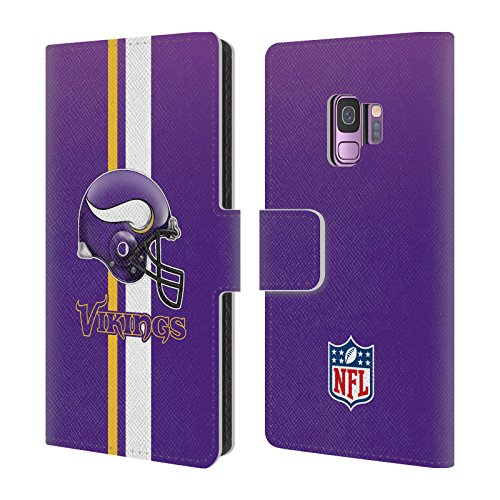 - Official NFL Helmet Minnesota Vikings Logo Leather Book Wallet Case Cover for Samsung Galaxy S9
