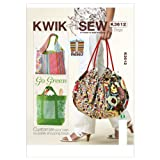 quilting books using panels - Kwik Sew K3612 Bags Sewing Pattern, No Size