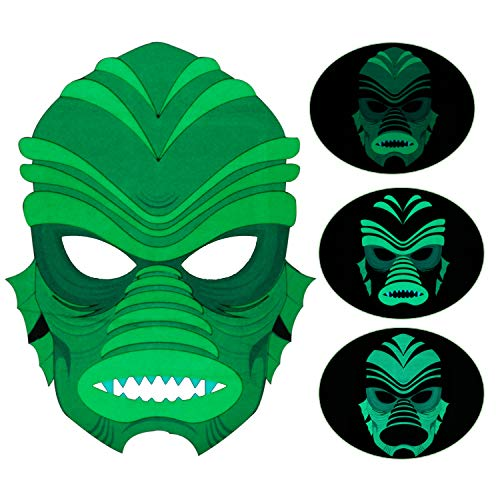 Music Sound Activated Mask, Halloween Party Light Up Flashing Mask for Disco, Raves, Parties ()