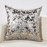 "New 18"" European Style Hot Silver Throw Pillow Waist Pillow Cushion Cover Pillow Case H-H"