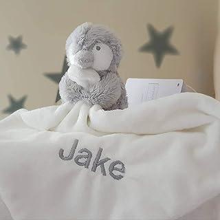 Personalised Snowy Penguin Baby Comforter / Baby Blanket / Baby Shower Gift / Christmas Baby Gift