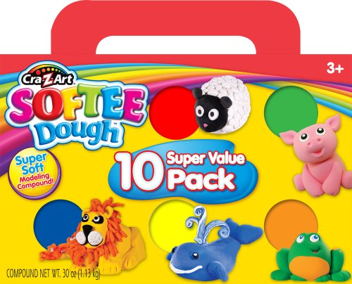 Cra-Z-Art Softee Dough, 10 Pack (Dough Art)