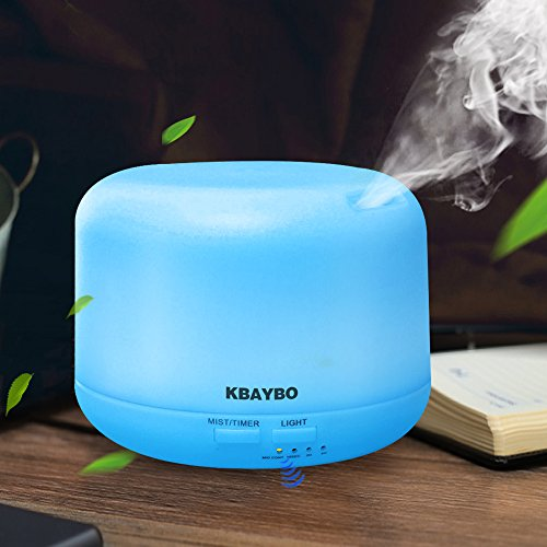 KBAYBO 300ml Cool Mist Humidifier Ultrasonic Aroma Essential Oil Diffuser for Office Home Bedroom Living Room Study Yoga Spa (Standard Edition)