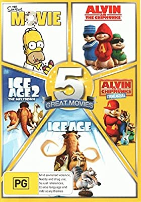 The Simpsons Movie Alvin And The Chipmunks Alvin And The Chipmunks The Squeakquel Ice Age 1 2 Non Uk Format Region 4 Import Australia Amazon Co Uk Dvd Blu Ray