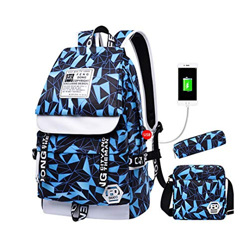 Backpack School Pencil Bag Set Bag C2 3 Bag Pencil Boys Boys 3pcs Sq8Z5wf