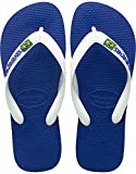 Havaianas Women's, Brazil Logo Thong Style Sandal Marine 45.6 M