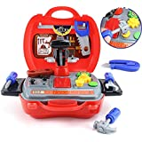 Toys Bhoomi 19 Piece Bring Along Kids Junior Builder Tools Suitcase Playset Toy