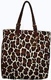 Women's Michael Kors Purse Handbag Tote Cheeta Cotton Canvas, Bags Central