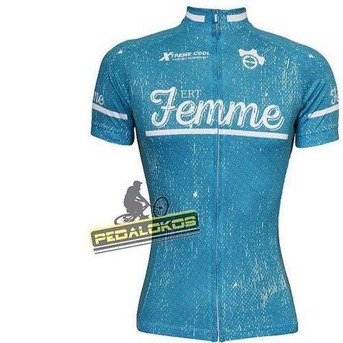 Camisa Ciclismo Ert Femme Verde (G)