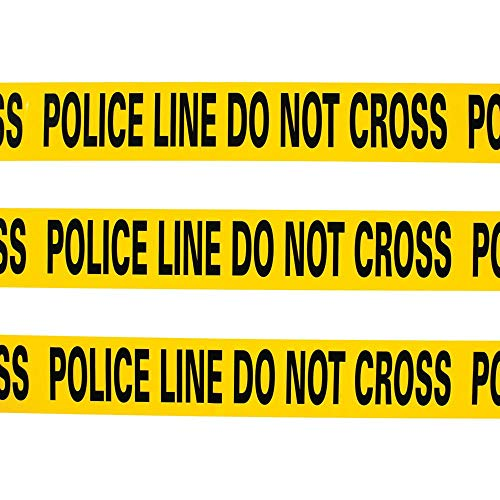 Yellow Caution Tape - Police Line Do Not Cross - 20 ft (Best Scenes From Cops)