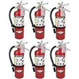 Amerex (Lot of 6) B-500, ABC Fire Extinguisher, Tagged, Ready for Fire Inspections.