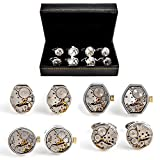 Mens Shirt Cufflinks Steampunk Watch Assorted 4 Pairs Of Shirt Cufflinks With Presentation Gift Box Suit Wedding Business