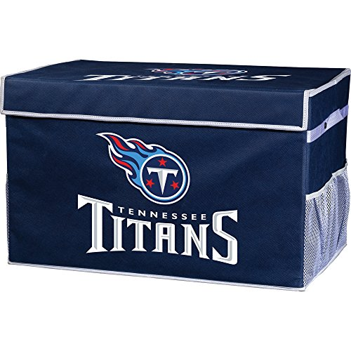 Franklin Sports NFL Tennessee Titans Collapsible Storage Footlocker Bins - Large (Tennessee Titans Display)