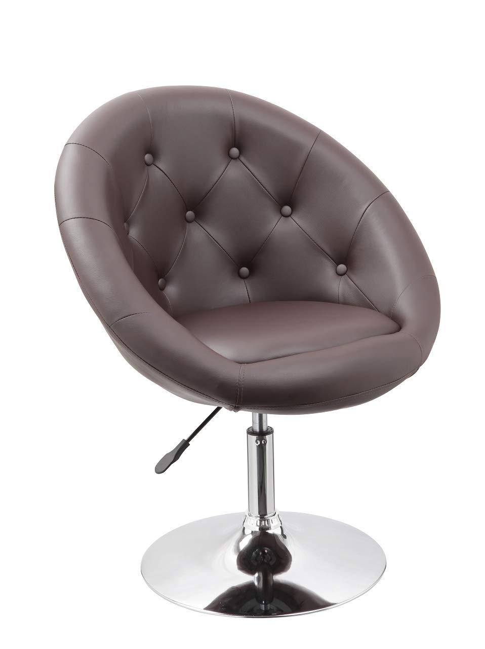 Duhome Poltrona Sedia da Pranzo in Similpelle Bianco Club Sedia Lounge Altezza Regolabile poltroncina Colore Selezione 509A