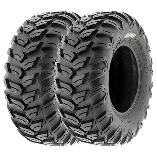 SunF 26x11R12 26x11x12 ATV UTV A/T Radial Race Replacement 6 PR Tubeless Tires A043, [Set of 2]