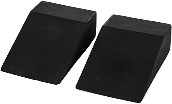 Yoga Foam Wedge Blocks (Pair) Soft Wrist Wedge, Supportive Foot Exercise Accessories, Balance, Strength, Stretch, Pilate, Fitness, Squat, Pushup, ...