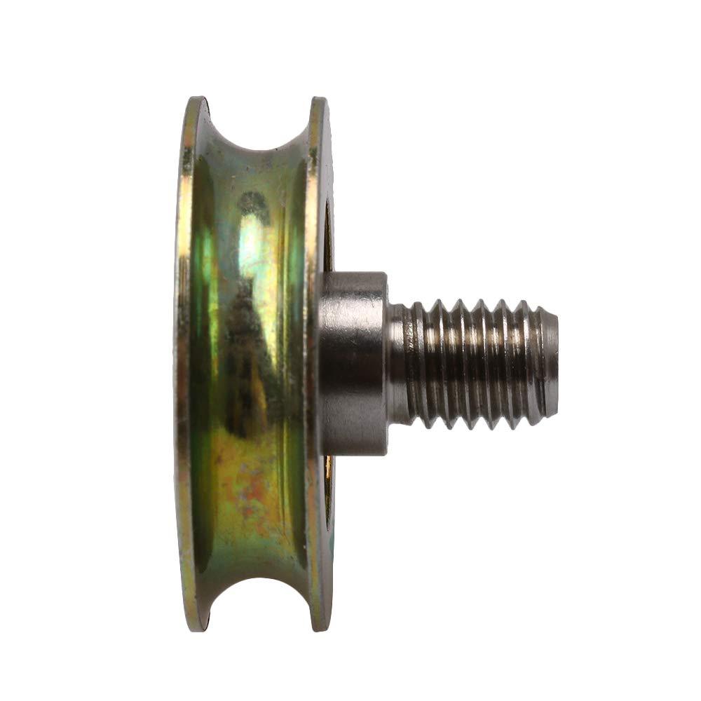 U-Typ-Spannrolle Stahl Gleit-F/örderrad M8 x 10 mm Gewindestange 3 mm Radian verzinktes Metall-Lager BQLZR 32 x 8,3 mm