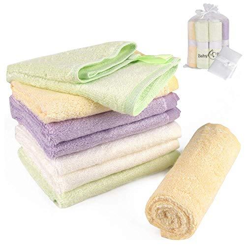 BabyBliss 8-Pack Bamboo Baby Washcloths | Large Size :12