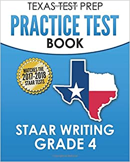 Texas Test Prep Practice Test Book Staar Writing Grade 4 Covers