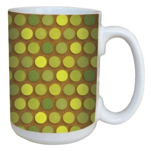 Tree-Free Greetings 79279 Shades of Green by Debbie Mumm Ceramic Mug with Full-Sized Handle, 15-Ounce