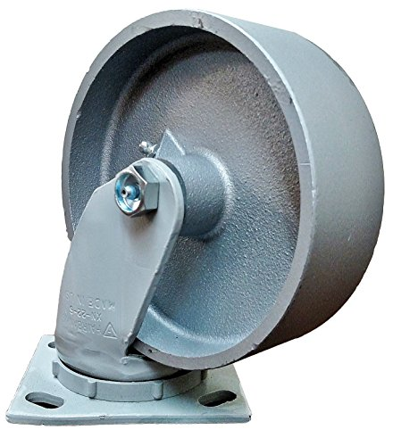 The Fairbanks Company 322-5-IWP - Series 322 Sanitation Container Caster, Plain Bearing, Swivel, Semi Steel, 1000 lb. Load Capacity, 5