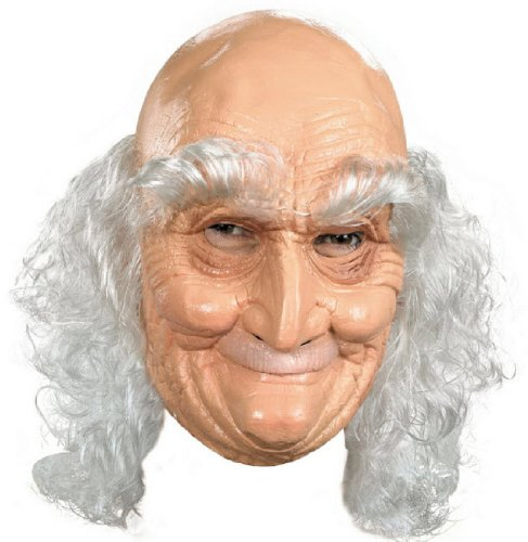 Adult Old Man Full Vinyl Mask Costume (Old Man Costume)