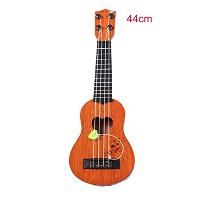 Kid's Mini Ukulele with Fiddle Flake, Four-String Guitar Early Education Music Toy for 1-6 Years Old Boys and Girls : Baby