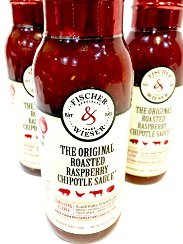Fischer & Wieser The Original Roasted Raspberry Chipotle Sauce 10.5 Oz (Pack of 3)