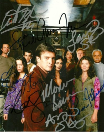 FIREFLY TV show cast 8x10 reprint signed photo by all 9