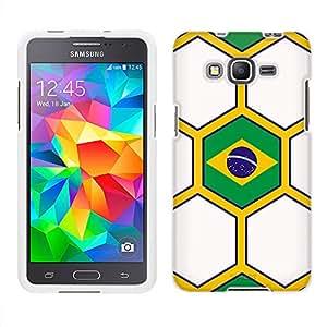 Samsung Galaxy Grand Prime Case, Snap On Cover by Trek Soccer Ball Blazil Flag Case