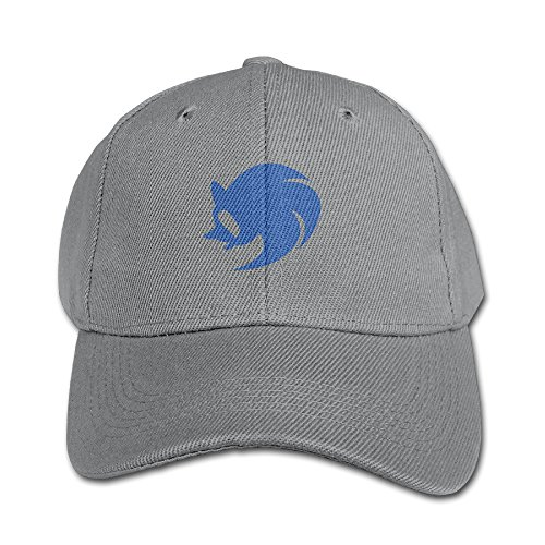 WH&SY OK Gesture Sonic Children Unisex Adjustable Pure 100% Cotton Peaked Cap Fashion Kids Sports Washed Baseball Hunting Cap Cool Hat Ash