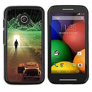 TECHCASE---Cubierta de la caja de protección para la piel dura ** Motorola Moto E ( 1st Generation ) ** --Futurista Ciber coche