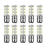 1157 led bulb rv - HOTSYSTEM 1154 1157 BAY15d 2057 18 LED SMD Light Bulbs For RV SUV MPV Car Turn Tail Signal Brake Light Lamp Backup Lamps Warm White 10-pack
