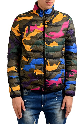 Valentino Garavani Men's Camouflage Down Reversible Full Zip Parka Jacket US L IT 52; - Reversible Down Parka