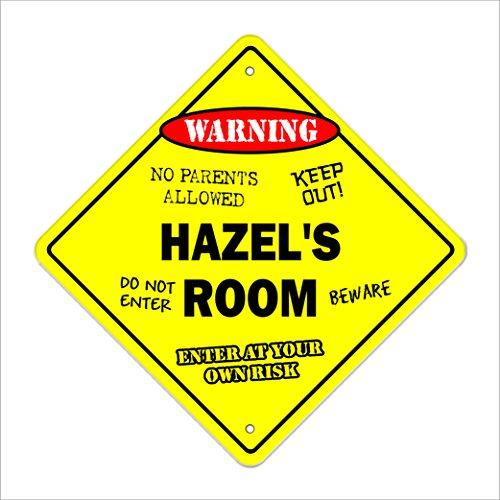 Hazel's Room Sign Crossing Zone Xing | Indoor/Outdoor | 14