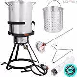 SKEMIDEX---6pc Gas stove Turkey deep Fryer Kit Aluminum Pot Outdoor Propane Backyard 30Qt And charcoal smoker grills bbq grill wood smoker grill best smoker grill combo weber grills bbq smoker