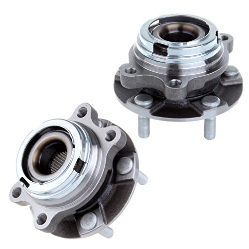 ECCPP Wheel Hub and Bearing Assembly Front 513310 fit 2003-2009 Nissan Quest Murano Replacement for 5 lugs wheel hub no ABS 2 pcs ()