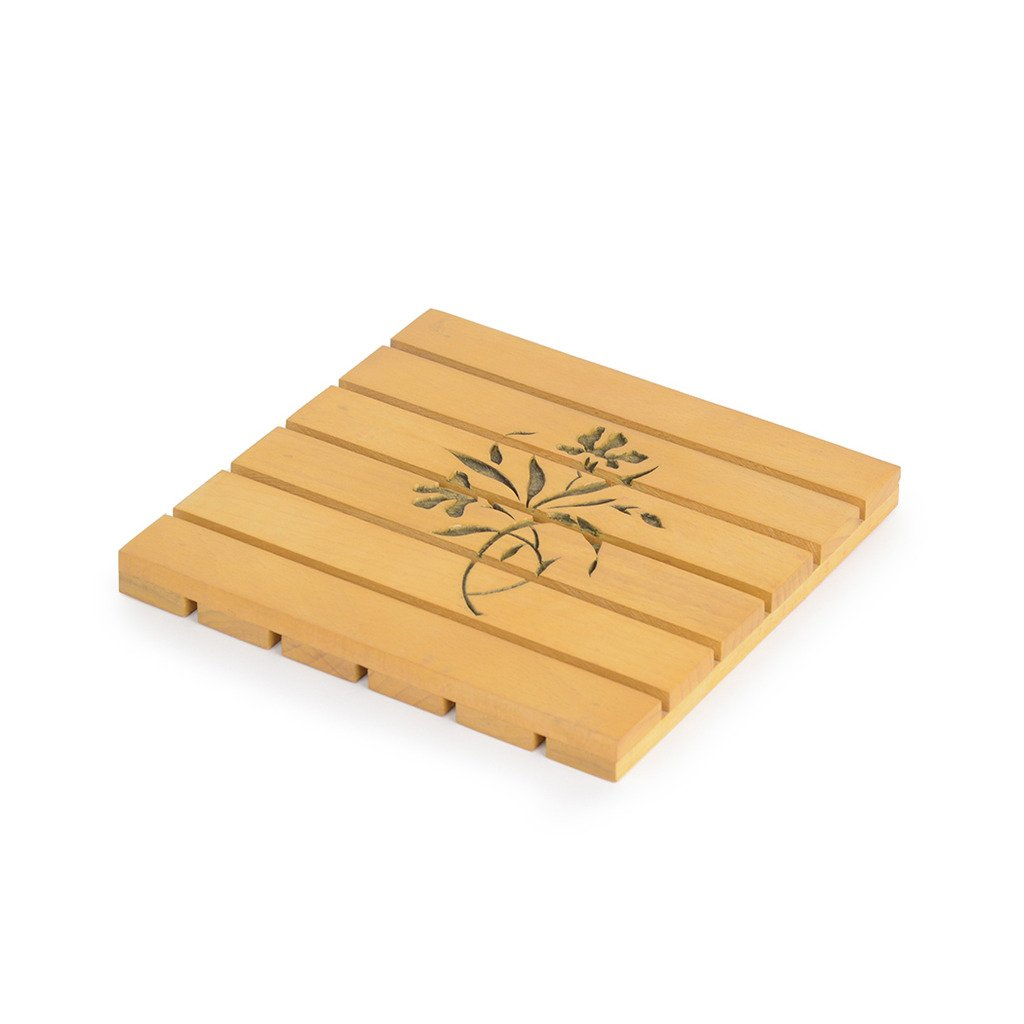 Buy Style My Way Hand Carved Steam Beach Wood Yellow Square Trivet 6in X 6in Online At Low Prices In India Amazon In