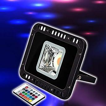FOCO LED RGB DE 30W,COLORES Y MODOS, FOCO PROYECTOR EXTERIORES ...