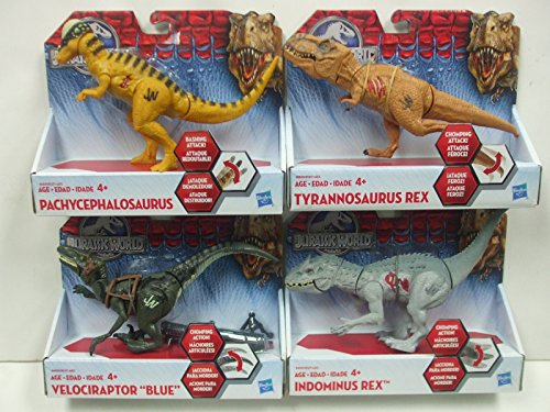 Jurassic World Bashers and Biters Dinosaur Figures Set of 4 Dinosaurs- Wave 4 -15