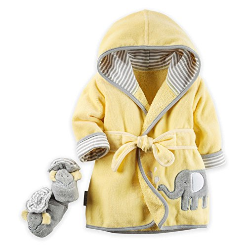 Carters Elephant Robe Bootie Set product image