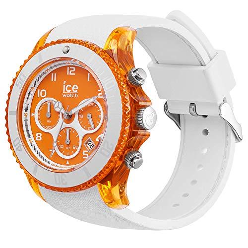 Ice-Watch – ICE dune vit orange röd – armbandsur för män med silikonrem – Chrono – 014221 (stor)