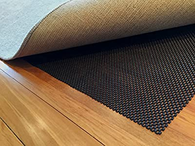 Premium Non Slip Rug Pad. Stop Slipping with this Large Black Backing Mat made from a New Foam for Superior Grip to Reduce Rugs Skid on Hard Floors. Provides Nonslip & Padding which Felt Pads Don't