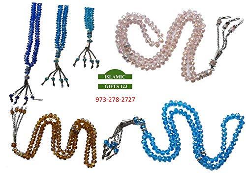 Price comparison product image Muslim Crystal Prayer Beads Tesbih-Misbaha-Mala Bulk Price 24-48 Rosary-Islamic Favors Quran Wedding Graduation Favor Gift Holy Kabba Quran Ramadan-Islamic Gifts 123-FAST US delivery (96)