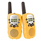 RHESHINE Kids Walkie Talkies, Rechargeable Walkie Talkie for Kids 2 Miles(3KM) Long Range 22 Channel 0.5W FRS/GMRS 2 Way Radios (1 Pair) ((2nd STY.) - Yellow)