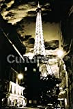 (24x36) Eiffel Tower (Lights, B&W) Art Poster Print