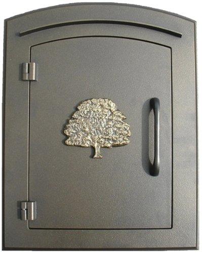 Qualarc MAN-1404-BZ Manchester Column Mount Mailbox With