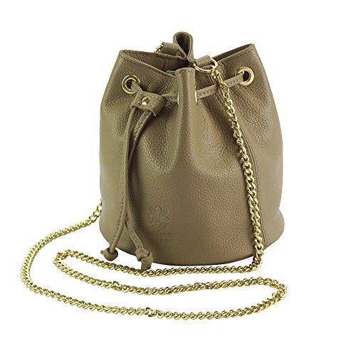 Suave De Bolso 9124 Leather Bandolera Bolsas Cuero Market Claro Taupe Gris Piel Ilaria Florence Becerro xBqFZ0wTwX